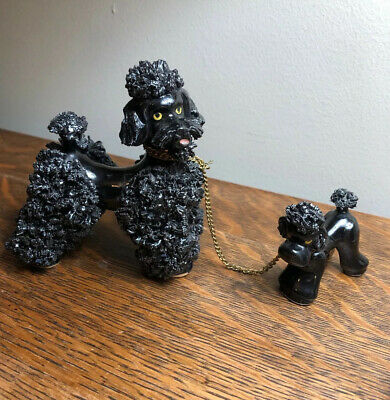 Black Poodle Puppy Pup Caniche French German Dog Gifts Statue Figurine Decor Art