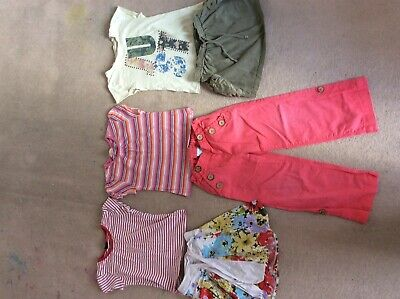 Girls summer bundle:3 T-shirts, 2 skirts, trousers age 5y.o.good used conditions
