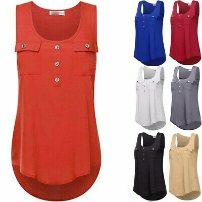 Women's Casual T-shirt O-neck Sleeveless Vest Sexy Loose Tank Tops Plus Size