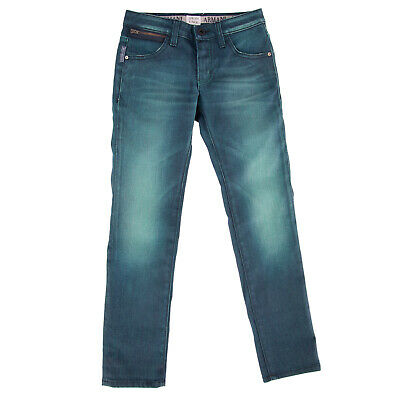 ARMANI JUNIOR Jeans Size 8Y Stretch Distressed Style Faded Effect Made in Italy