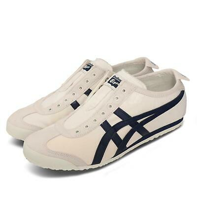 Asics Onitsuka Tiger Mexico 66 Slip-On Birch Navy Mens Womens Shoes 1183A360-205