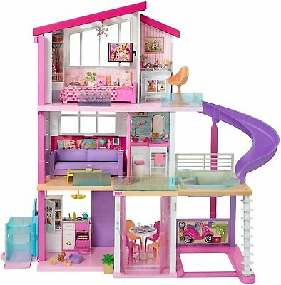 Barbie Dream Town House 3 Floors 8 Rooms Rooftop Pool & 70+ items FAST SHIPPING