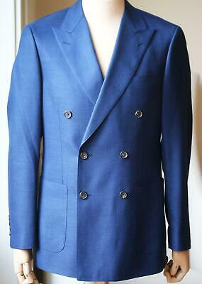 Gieves And Hawkes Double Breasted Wool Blend Jacket It 48 Uk/Us 38
