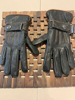 Hy Hy5 Adults Leather Thinsulate Winter Riding Gloves Black/Dark Brown XS-XL