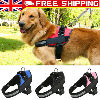 No-pull Puppy Dog Harness Reflective Adjustable Small-Large Soft Padded Pet Vest