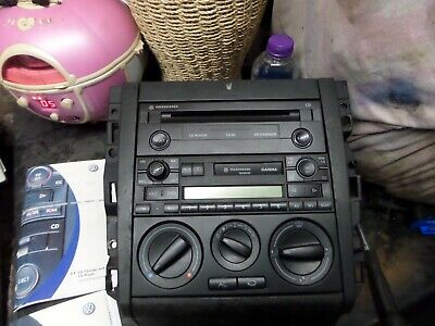 Mk4 Golf Gti Gamma Head Unit Cd Player Radio With Code Centre Console Cup Holder