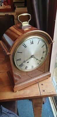 Antique Regency Oak Cased Bracket Clock Westminster Chime 5 Gongs!