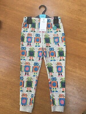 Bnwt Marks & Spencer Joggers Robots Age 4-5 Bottoms Trousers