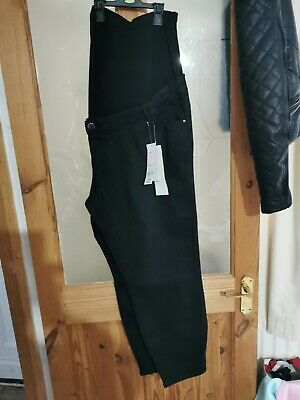 """George Straight Black Maternity Jeans """"Over the bump"""" panel BNWT Size 24."""