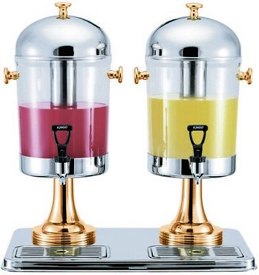 Double Juice Dispenser for Restaurant and Catering Use