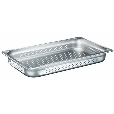 Stainless Steel 1/1 GN Perforated Pans 530x327x55 for Catering Use