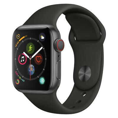 Apple Watch Series 4 - 40mm/44mm - GPS/4G - All Case Colours - Black Sport Band