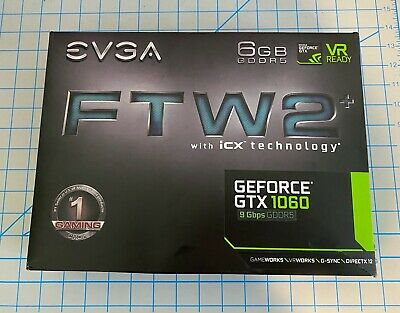 EVGA GeForce GTX 1060 FTW2, 6GB 192-Bit GDDR5, DirectX 12, PCI-E Video Card