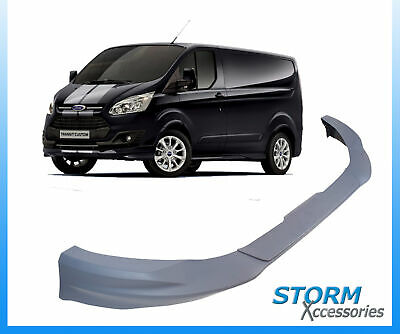 Ford Transit Custom 2015 On - Sportline Front Splitter -  Bumper Lip - Primed