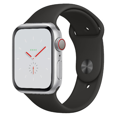 Apple Watch Nike+ Series 4 - 40mm/44mm - All Case Colours - Black Sport Band