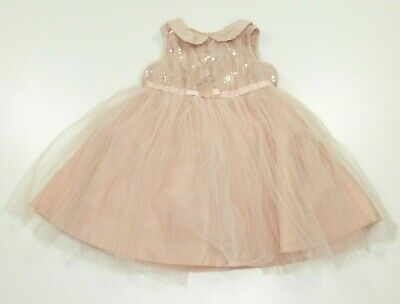 Baker Best by Ted Baker - Girls Pink Sequin Frilly Dress - Age 2-3 yrs