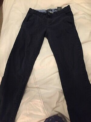 H&M Boys Navy Blue Skinny Fit Chinos - Age 12-13
