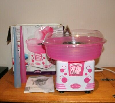 COTTON CANDY MACHINE NOSTALGIA ELECTRICS  Pink & White - used