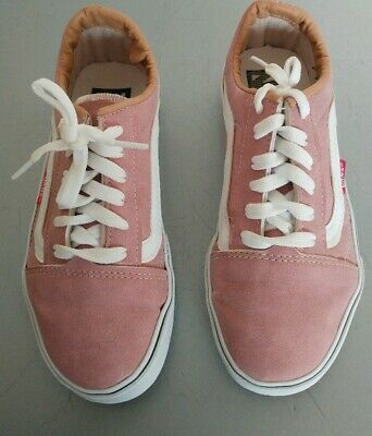 Girls Vans Off The Wall Pink Uk Size 2 Good Condition