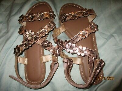 Pair of Girls Sandals size 3 from Next Gold colour
