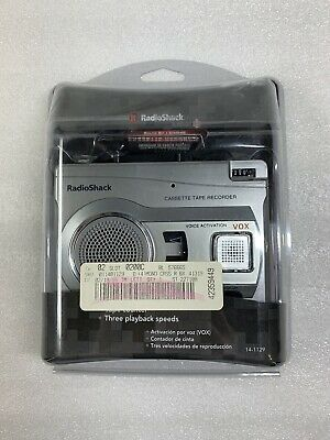 Radio Shack CTR-122 Voice Activated Cassette Tape Recorder 140-1129 Brand New!