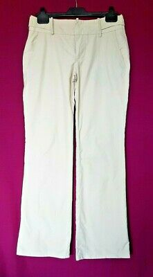 Zara Basic Cotton Stretch Sexy Summer Cream Soft Feel Trousers Size 36 RRP £40