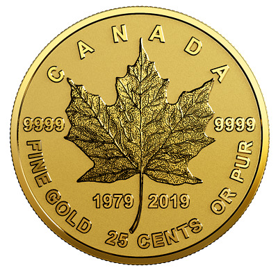 NT 2019 Half-Gram /'Bouquet of Maple Leaves/' Proof 25ct Gold Coin .9999Fine 18753