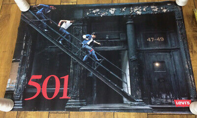 VINTAGE - Levi's 501 Poster Levis New York NYC Brooklyn - Denim Jeans