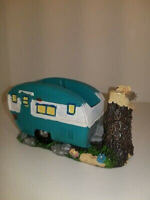 Green Camper Tape Dispenser with tree stump