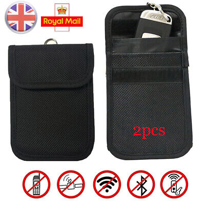 2pcs Keyless Entry Car Key Fob Signal Blocker Guard Case Faraday Bag Pouch