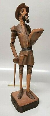 Vintage Hand Cared Wood Don Quixote Sculpture - 7 1/2""