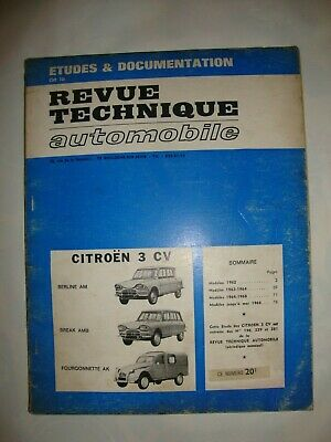 Revue Technique Citroen 3 Cv Berline Am - Break Amb - Fourgonnette Ak