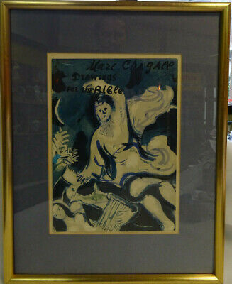 """Marc Chagall """" Drawings for the Bible """" - Lithografie - Gerahmt"""