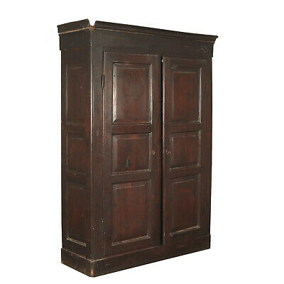Solid Walnut Wardrobe With Two Doors Italy First quarter 1800