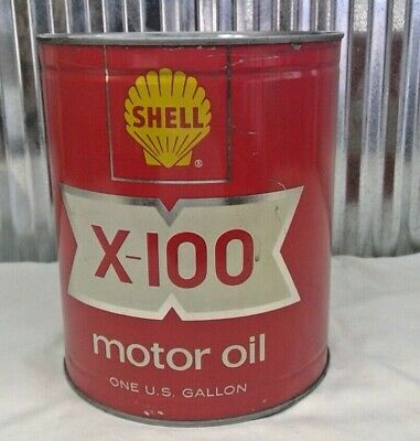 Shell X-100 Motor Oil 1 Gallon Can