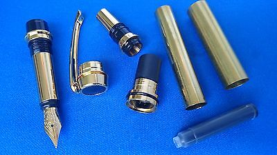 Woodturning Pen Kits UPGRADED Jr.Gentlemans Fount/Roller - Gold/Chrome/Gun Metal