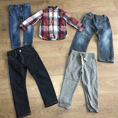 Boys bundle 3-4 years next skinny jeans tracksuit bottoms shirt F290