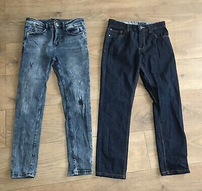 2 x pairs boys Next jeans age 12 years adjustable waist F293