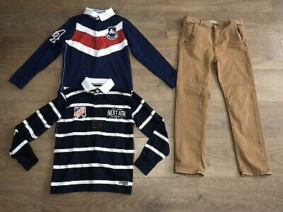 Boys bundle age 10 years zara brown trousers next rugby shirt F291
