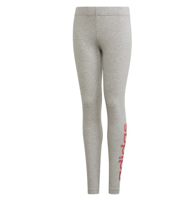 Girls Adidas Linear Leggings Grey Age 6-14  Bnwt  Rrp £17  Sale Price
