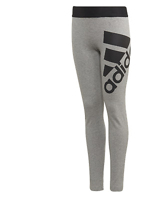 Girls Adidas Badge Of Sport Leggings Grey Age 5-14  Bnwt  Rrp £20  Sale Price