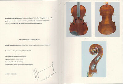 Beautiful French violin with Rampal cerificate, L.- H.