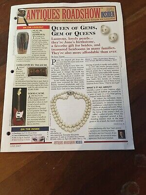 ANTIQUES ROADSHOW INSIDER Newsletter - June 2007 Collectibles & More