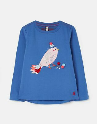 Joules Girls Ava Applique T Shirt 3 12 Years in BLUE BIRD