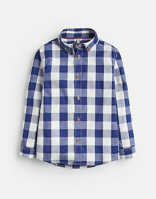 Joules 207202 Check Shirt in DARK BLUE GINGHAM