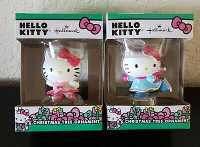 "Hello Kitty /""Christmas Gift /& Candy Cane/"" Ornament Approx 3/"""
