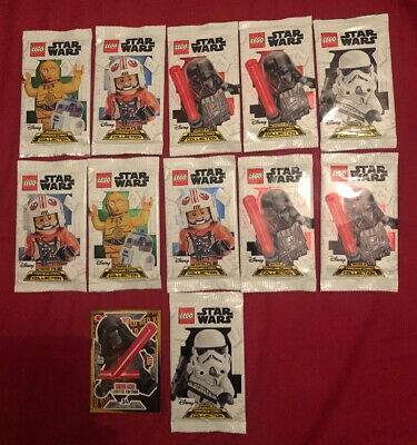 alle 4 Multipack mit LE13-16 Neu LEGO Star Wars Serie 2 Trading Card Game