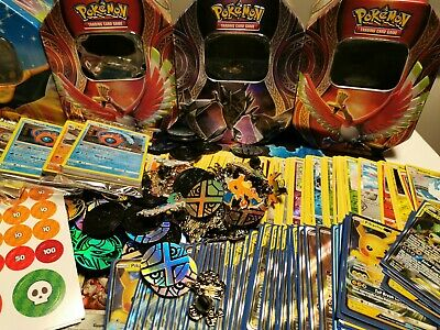 POKEMON TIN 100x Cards MEGA BUNDLE - GUARANTEED GX/EX/HYPER RARE/SECRET/FULL ART