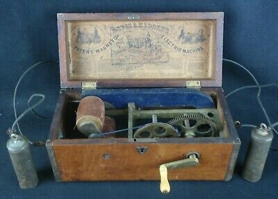 Antique Quack Medical Shock Device 1854 Davis & Kidder Magneto Electric Machine