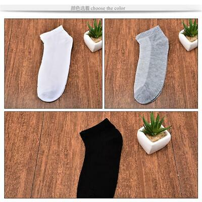 10 Pairs Unisex Casual Style Ankle Men's Mesh Boat Ankle Socks Cotton Low Cut